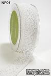 Лента от May Arts - Crochet Ribbon, цвет белый, 3,8 см, 90 см - ScrapUA.com