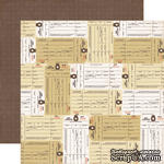 Лист скрапбумаги от Echo Park - Inventory paper - двусторонняя, 30х30 см - ScrapUA.com