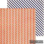 Двусторонний лист бумаги от My Mind's Eye - Now and Then Collection - Frolic, 30,5x30,5см - ScrapUA.com
