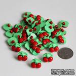 """Пуговица """"Вишенка"""", цвет красный с салатовым, 1 шт. - ScrapUA.com"""