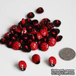 """Пуговица """"Божья коровка"""", цвет красный с черным, 1 шт. - ScrapUA.com"""