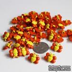 """Пуговица """"Пчелка"""", цвет желтый с оранжевым, 1 шт. - ScrapUA.com"""