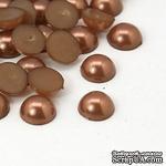 Полужемчужинки Camel, 8x3.5мм, цвет коричневый, 50 шт. - ScrapUA.com