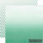 Лист скрапбумаги от Echo Park - Teal Ombre, 30х30 см - ScrapUA.com