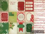 Лист двусторонней скрапбумаги от Kaisercraft - Twelve Days - Christmas Carol, 30,5х30,5 см - ScrapUA.com