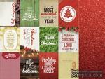 Двусторонний лист скрапбумаги от Kaisercraft - Basecoat Christmas Collection - Glitter, 12 карточек - ScrapUA.com