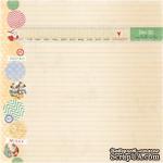 Лист одностронней скрапбумаги от Melissa Frances - Holiday Notes - ScrapUA.com