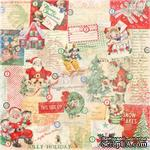 Лист одностронней скрапбумаги от Melissa Frances - All Wrapped Up - ScrapUA.com