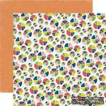 Лист двусторонней скрапбумаги Pie Charts, Paper & Glue, Echo Park, 30х30 см - ScrapUA.com