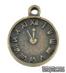 """Металлическое украшение """"Часы"""", античная бронза, размер 16х13 мм, 1 шт - ScrapUA.com"""