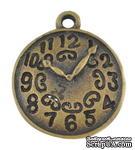 """Металлическое украшение """"Часы"""", античное золото, размер 22х18 мм, 1 шт - ScrapUA.com"""