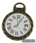 """Металлическое украшение """"Часы"""", античная бронза, размер 26х20 мм, 1 шт - ScrapUA.com"""