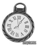 """Металлическое украшение """"Часы"""", античное серебро, размер 26х20 мм, 1 шт - ScrapUA.com"""