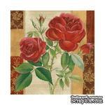 """Салфетка """"Ветка красной розы"""", размер: 33х33 см, 1 шт - ScrapUA.com"""