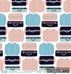 Лист бумаги для скрапбукинга от Polkadot  - Чемоданы, коллекция На чемоданах, 30х30 см, плотность 190 гр\м2 - ScrapUA.com