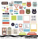 Лист бумаги для скрапбукинга от Polkadot  - Я путешествую!, коллекция На чемоданах, 30х30 см, плотность 190 гр\м2 - ScrapUA.com