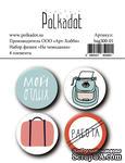 Набор фишек  от Polkadot  - На чемоданах, диаметр 2,5 см - ScrapUA.com