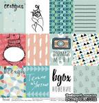 """Лист односторонней скрапбумаги от Polkadot - карточки """"Тепло и уютно"""", 30,5х30,5 см - ScrapUA.com"""