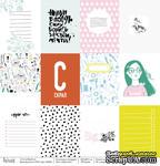 Лист бумаги для скрапбукинга от Polkadot  - Карточки, коллекция Scrapgirl, 30х30 см, плотность 190 гр\м2 - ScrapUA.com