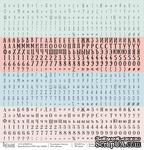 Лист бумаги для скрапбукинга от Polkadot - Буквы, коллекция школа, 30х30 см, плотность 190 гр\м2 - ScrapUA.com