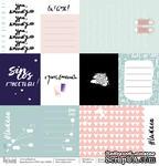 Лист односторонней бумаги для скрапбукинга от Polkadot  - Карточки, коллекция школа, 30,5х30,5 см, плотность 190 гр\м2 - ScrapUA.com