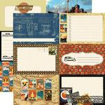 Лист скрапбумаги от Echo Park - Blueprint - двусторонняя, 30х30 см - ScrapUA.com