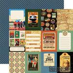 Лист скрапбумаги от Echo Park - World Traveler - двусторонняя, 30х30 см - ScrapUA.com