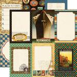 Лист скрапбумаги от Echo Park - Suitcase Paper - двусторонняя, 30х30 см - ScrapUA.com