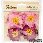 Набор объемных цветов Petaloo - Ruffled Peony - Fuchsia - ScrapUA.com