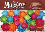 Набор цветов Petaloо - New Mini Mulb.Paper Delphiniums - Fush/Grn/Blu/Orng - ScrapUA.com