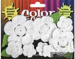 Набор вязаных цветов Petaloo - Color Me Crazy All White, 12 штук - ScrapUA.com