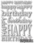 Нож для вырубки от Poppystamps - Happy Birthday Background - ScrapUA.com