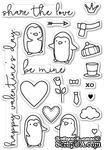 Штампы от Poppystamps - Be Mine Penguins clear stamp set - ScrapUA.com