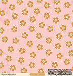 """Лист двусторонней скрапбумаги от October Afternoon - """"Daydream"""" Collection - Poppy Garden, 30х30 - ScrapUA.com"""