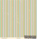 "Лист двусторонней скрапбумаги от October Afternoon - ""Ducks in a Row"" Collection - Sleep Tight, 30х30 - ScrapUA.com"
