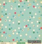 """Лист двусторонней скрапбумаги от October Afternoon - """"Boarding Pass"""" Collection - Hong Kong, 30х30 - ScrapUA.com"""