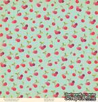"""Лист двусторонней скрапбумаги от October Afternoon - """"Farm Girl"""" Collection - Patchwork, 30х30 - ScrapUA.com"""