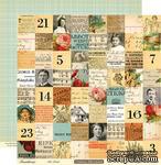 """Лист двусторонней скрапбумаги от October Afternoon - Farmhouse"""" Collection - Attic Trunk, 30х30 - ScrapUA.com"""