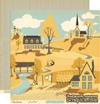 """Лист двусторонней скрапбумаги от October Afternoon - Farmhouse"""" Collection - Gravel Road, 30х30 - ScrapUA.com"""