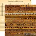 """Лист двусторонней скрапбумаги от October Afternoon - Farmhouse"""" Collection - Kitchen Cupboard, 30х30 - ScrapUA.com"""