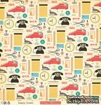 """Лист двусторонней скрапбумаги от October Afternoon - """"9 to 5"""" Collection -Supply Closet, 30х30 - ScrapUA.com"""