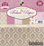 Набор ткани на клеевой основе DCWV - Pink Fabric Paper Stack, 30х30 см, 6 листов - ScrapUA.com