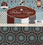 Набор ткани на клеевой основе DCWV - Blue Fabric Paper Stack, 30х30 см, 6 листов - ScrapUA.com