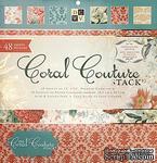 Набор бумаги DCWV -Coral Couture Paper Stack, 30х30 см, 24 листа - ScrapUA.com