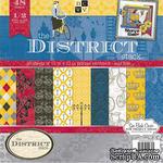 Набор бумаги DCWV - District, 30х30 см, 24 листа - ScrapUA.com