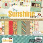 Набор бумаги DCWV - My Sunshine, 30х30 см, 24 листа - ScrapUA.com