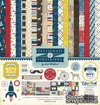 Набор бумаги от Echo Park  - Pinstripes, 30х30см, 12+2 листов - ScrapUA.com