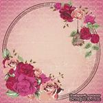 Лист скрапбумаги от Kaisercraft - VIOLETTE - LADY ROSE GLOS PAPER, 30 x 30 см. - ScrapUA.com