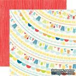 Лист двусторонней бумаги от Echo Park - Clothes Line Paper, 30х30см - ScrapUA.com