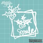 """Чипборд от Вензелик - Рамка + веточка """"Smile"""", размер: 76x74 мм - ScrapUA.com"""